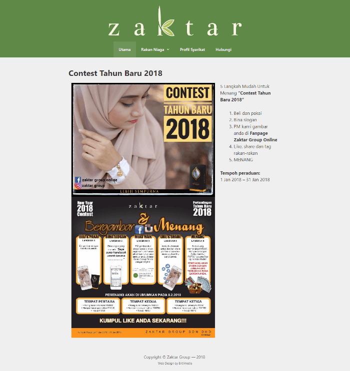 website korporat portfolio blog zaktar group
